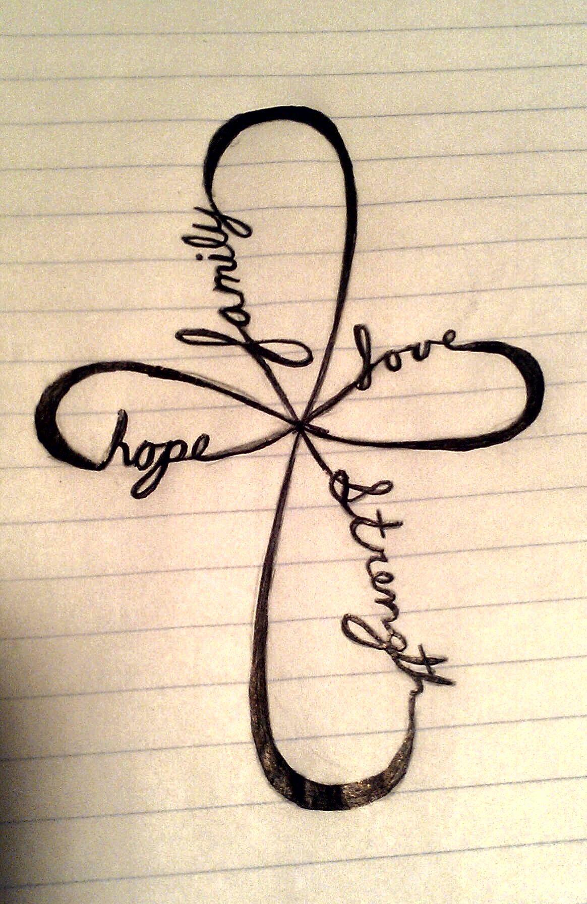 Family, Love, Strength, Hope. Tattoos Pinterest