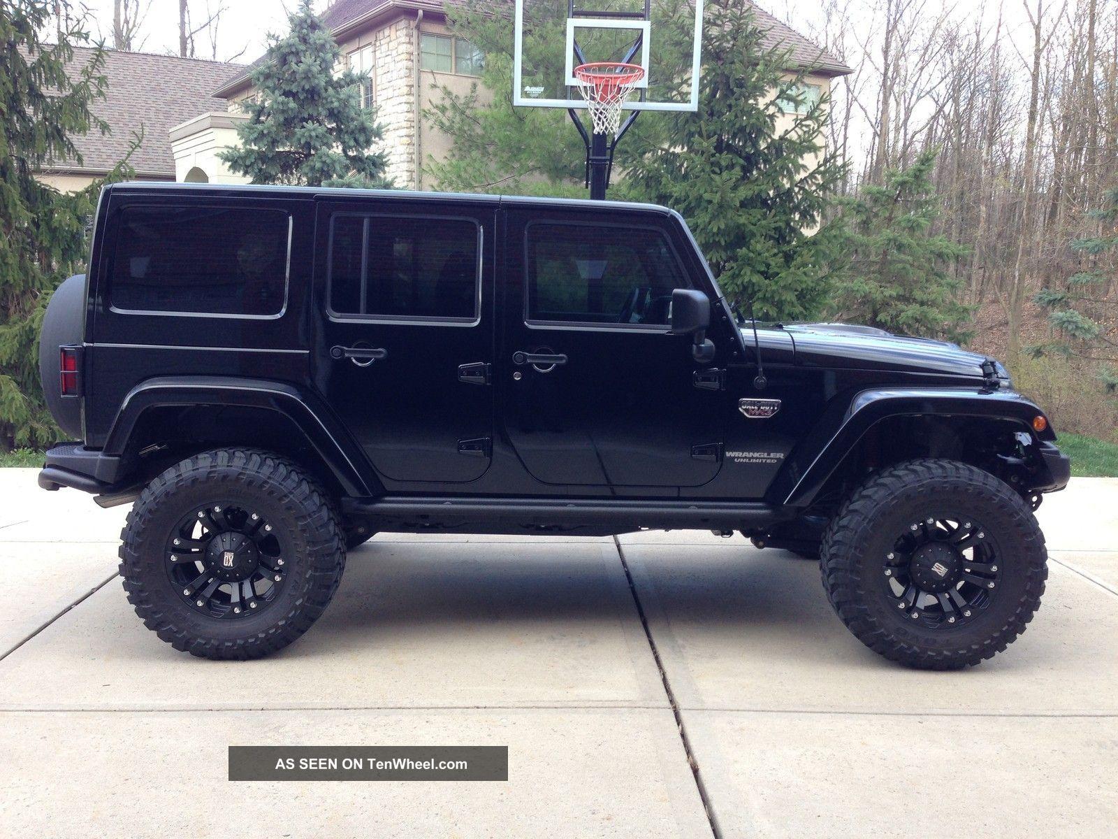 Black Jeep Wrangler 4 Door. dream car Goals Pinterest