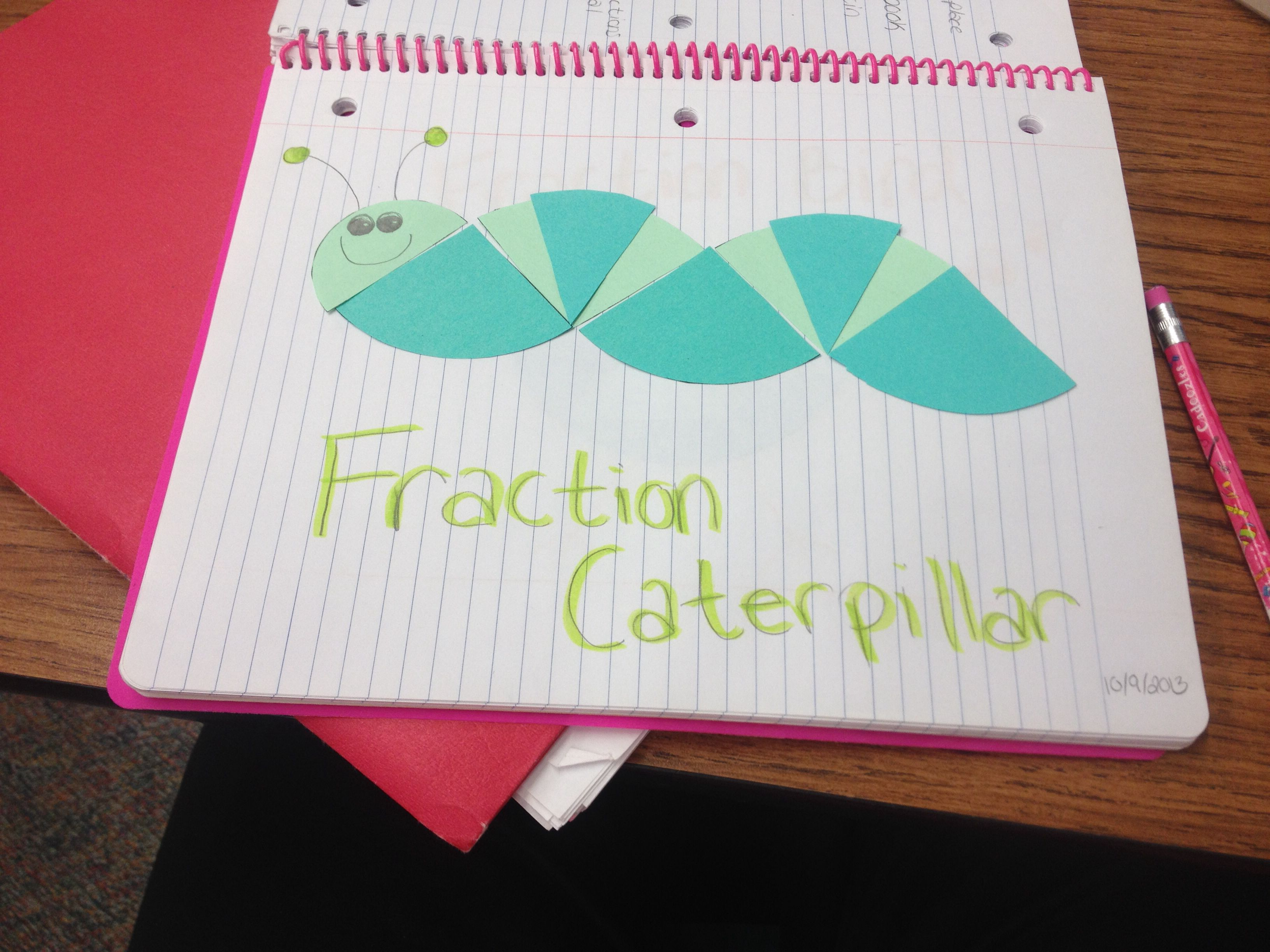 Fraction Caterpillar Idea From The Ed Emberley S Picture