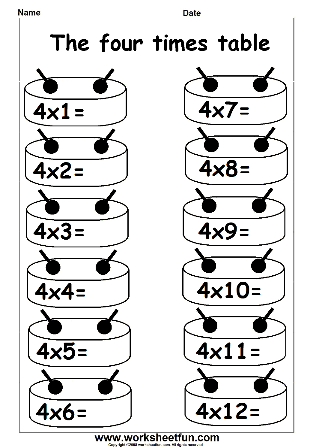 Multiplication Times Table Practice