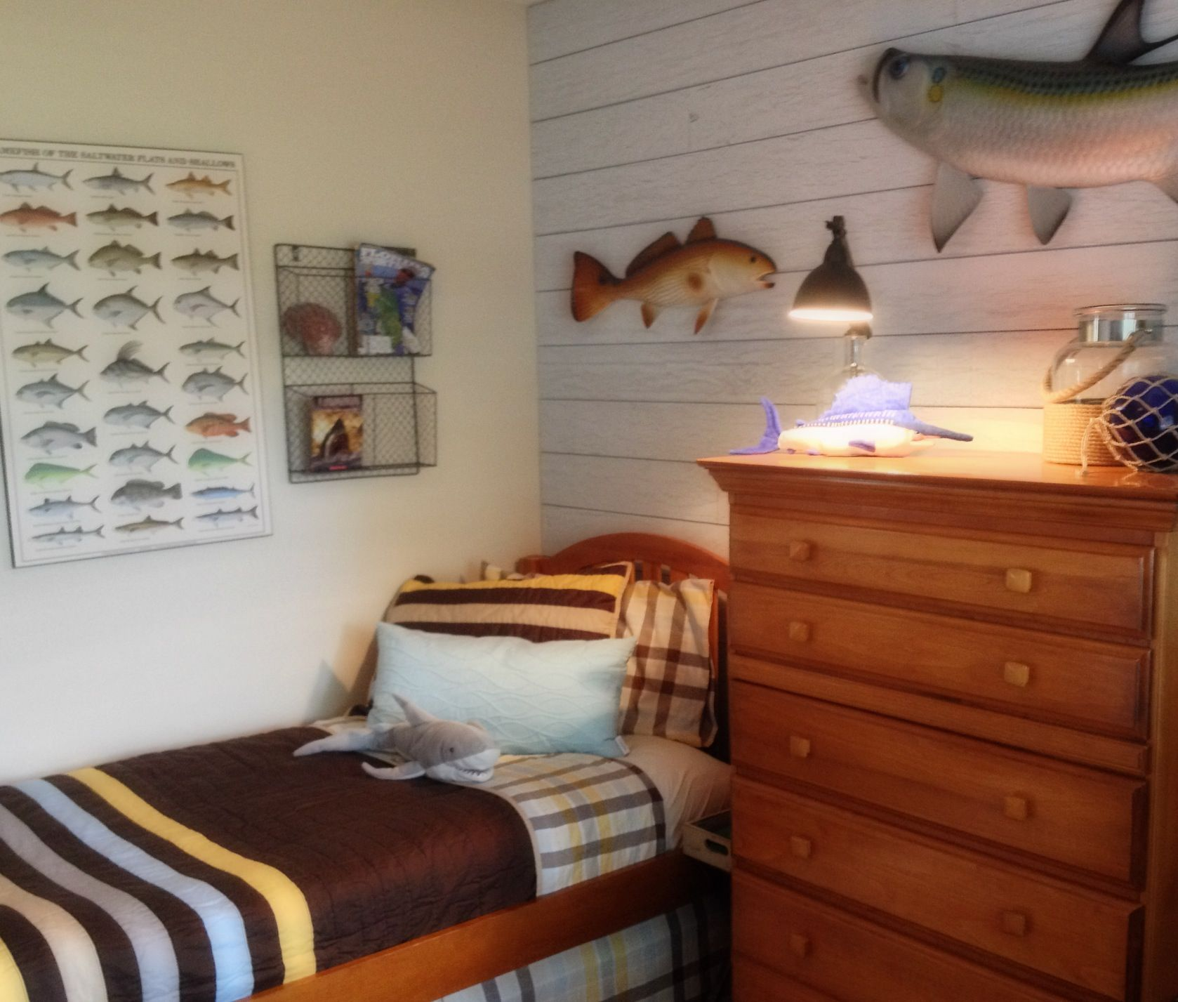 Boys Inshore Saltwater fishing Bedroom My Completed