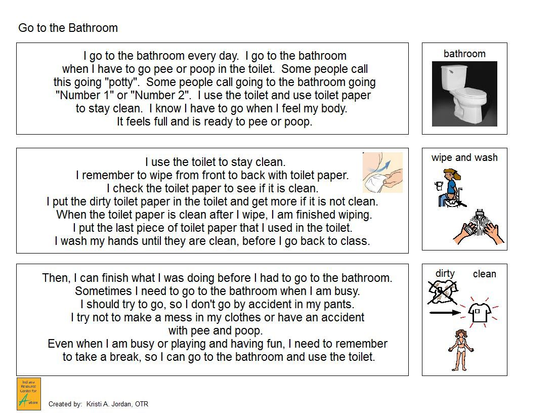 Go To The Bathroom With Wiping Rules For Girls Narrative