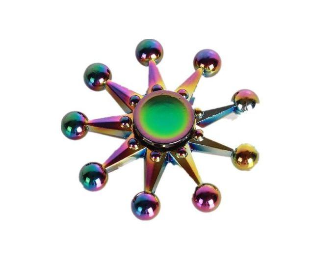 Banggood Eachine Zinc Ally Night Leaves Rotating Fidget Hand Spinner Adhd Autism Reduce Stress Focus