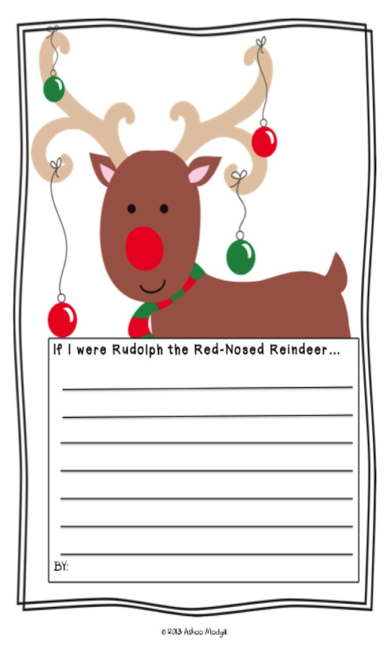 Opinion Writing Prompt If I Were Rudolph The Red Nosed Reindeer