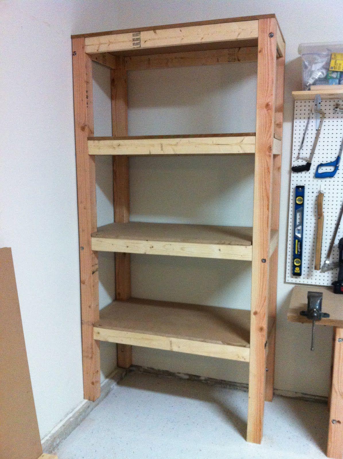 DIY Garage Shelving Ideas Shelves 3/4' MDF Board