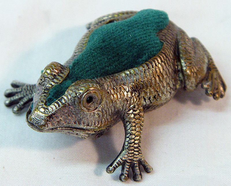 antique frog pin cushion Sewing Accessories Pinterest