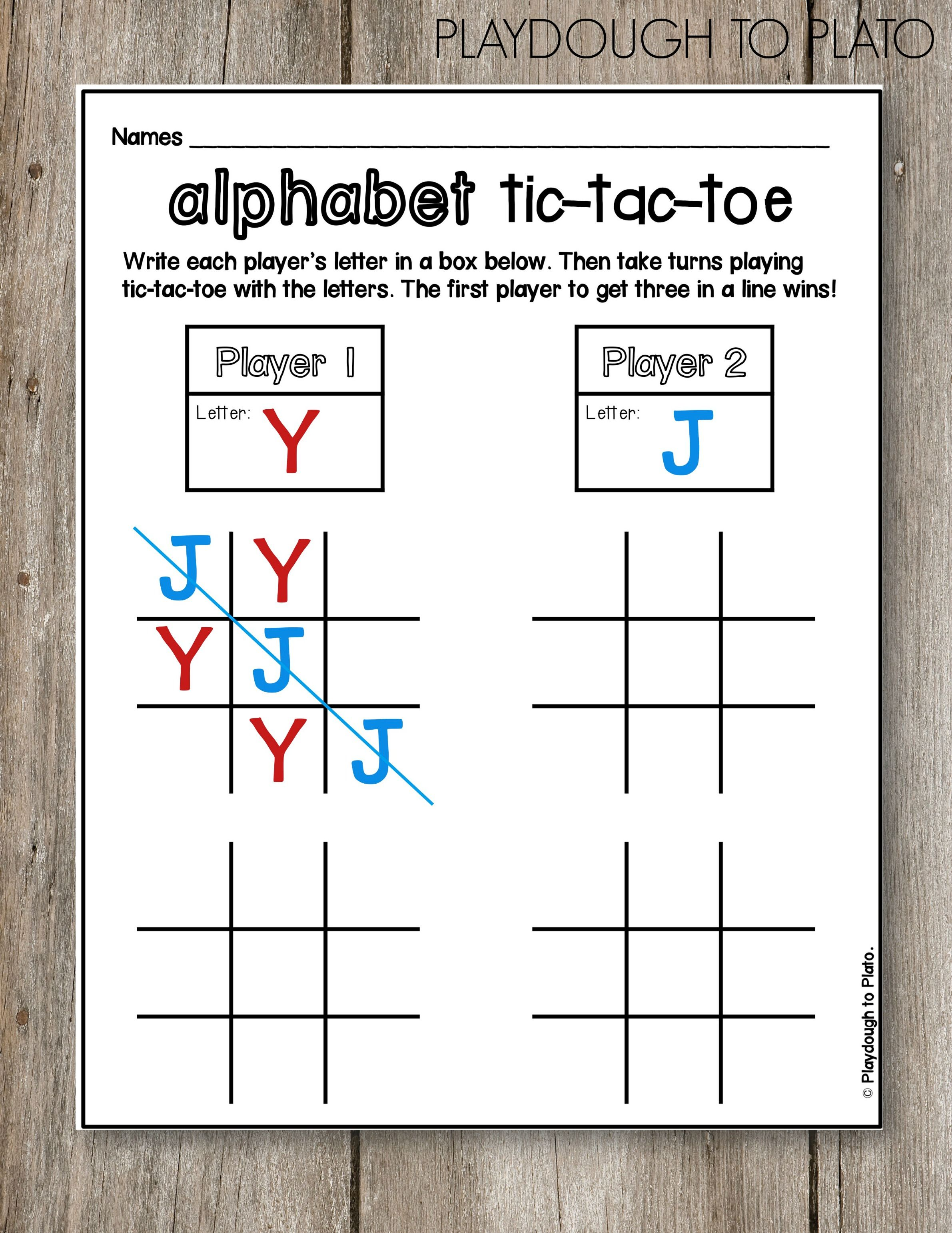 Abc Tic Tac Toe