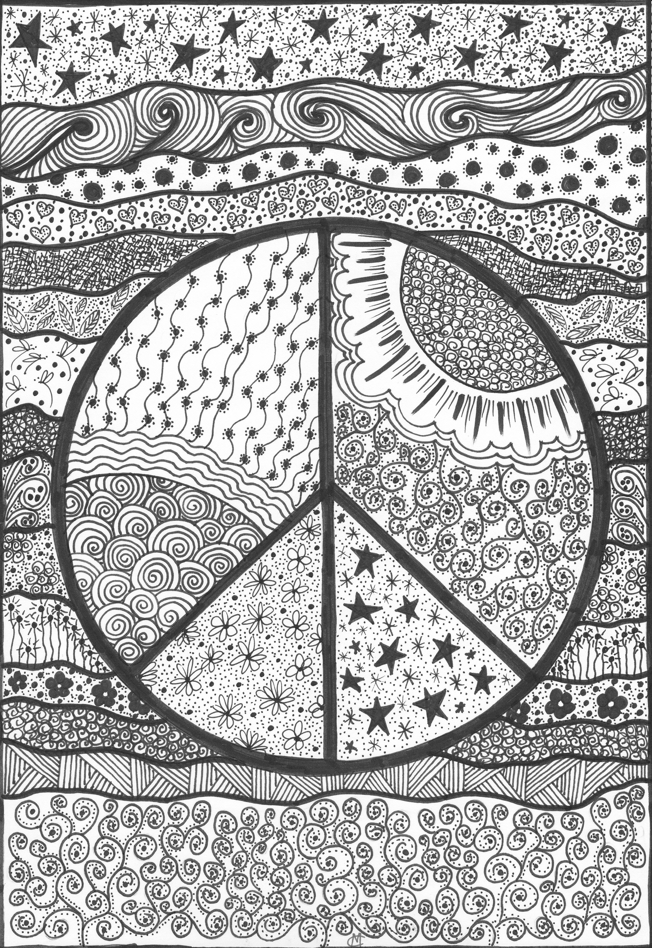 Peace An Original Artwork By Cat Magness