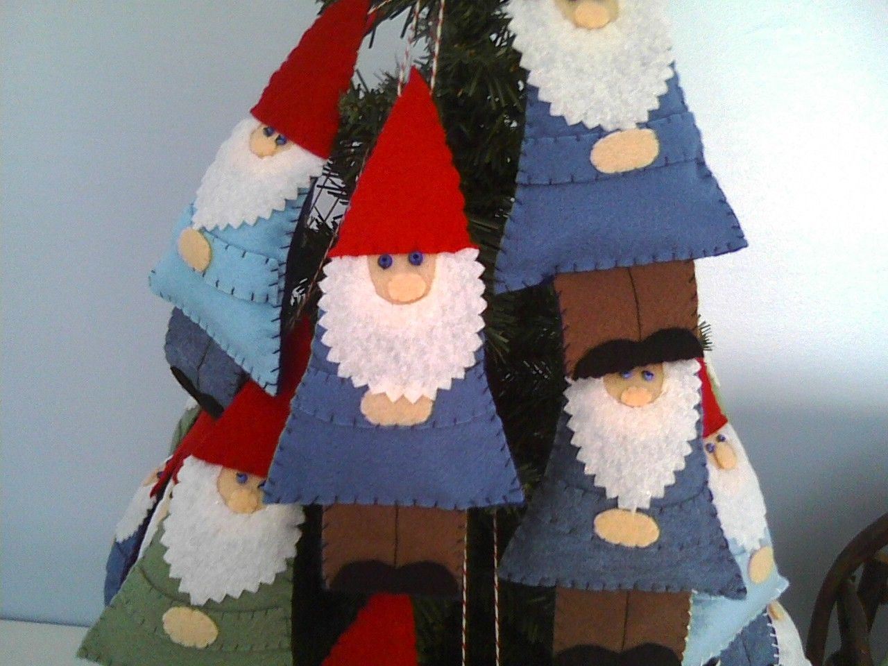 Felt Garden Gnome OrnamentTreasury Item. 9.25, via Etsy