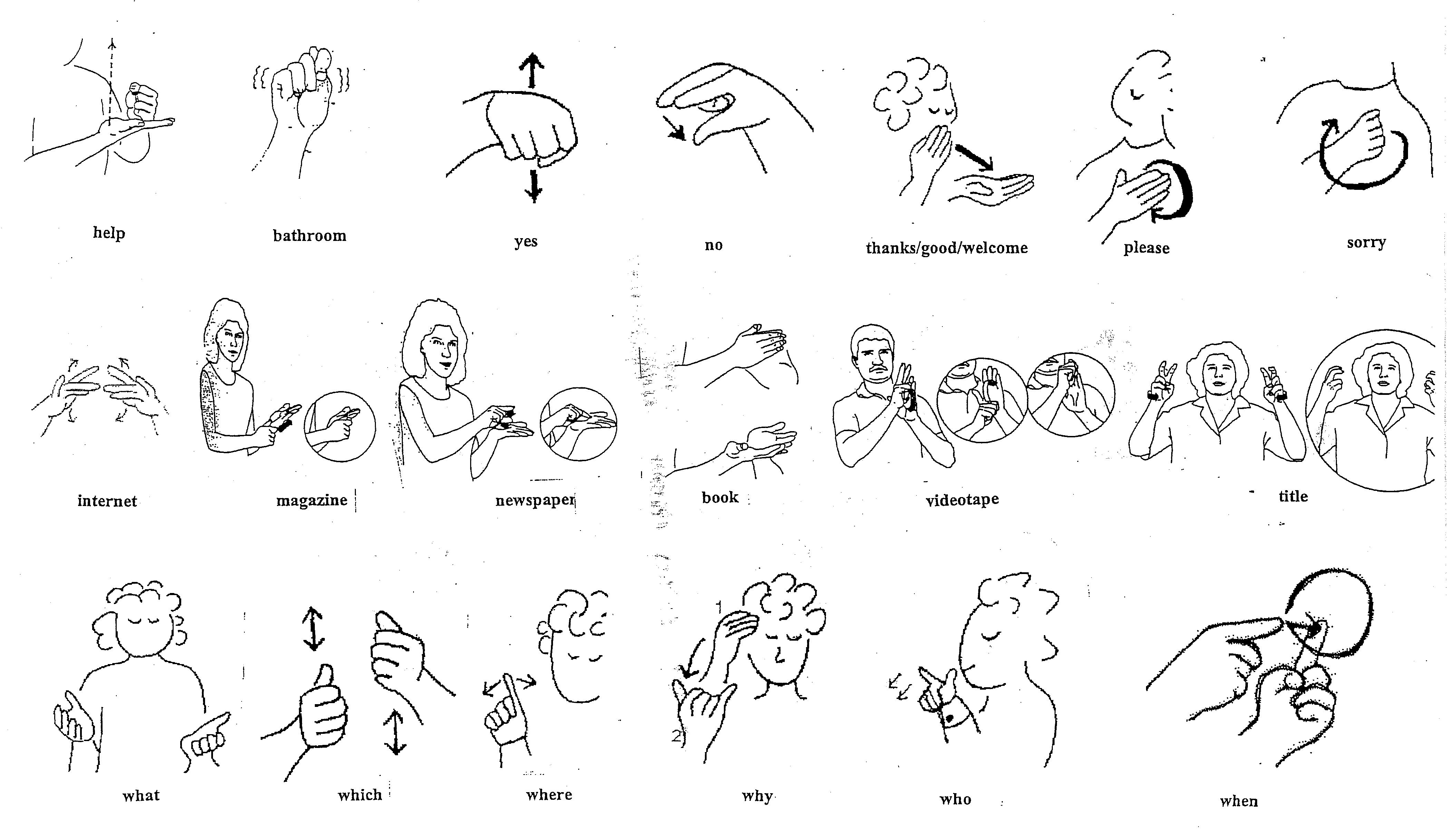 Worksheet Asl Sign