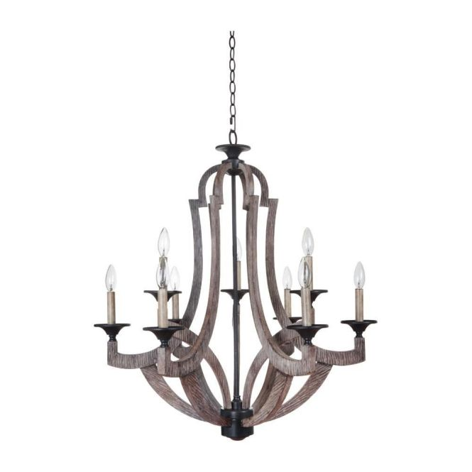 Jeremiah Lighting 35129 Wp Winton 9 Light Chandelier In Weathered Pine
