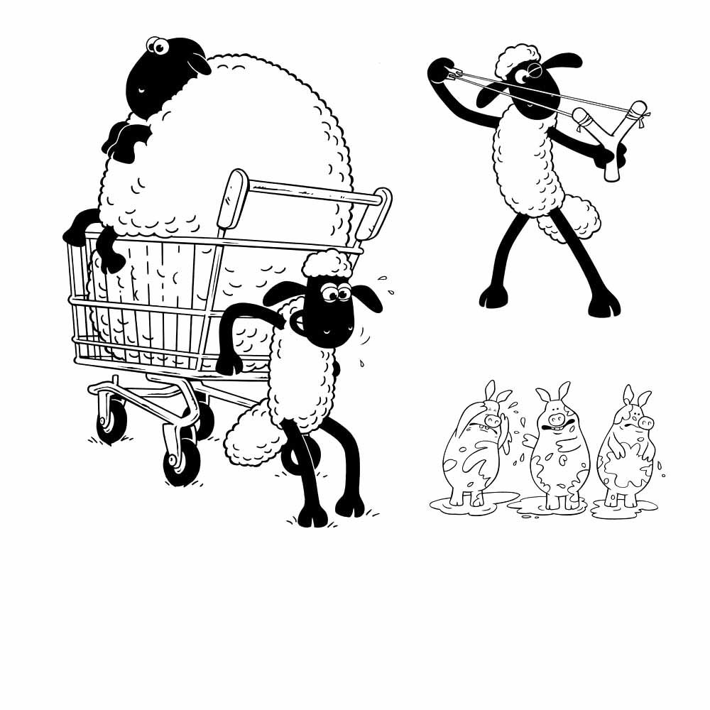 shaun the sheep coloring pages for kids and the sheep on pinterest