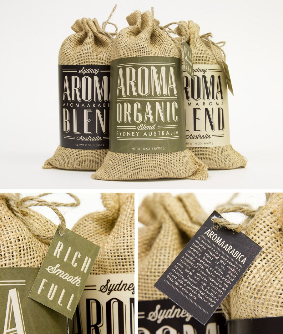 Rustic materials work really nice for food packaging.