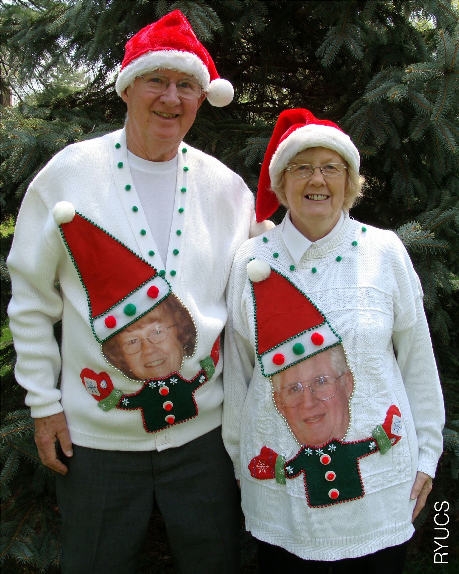 People+wearing+ugly+sweaters Grandparents wearing funny
