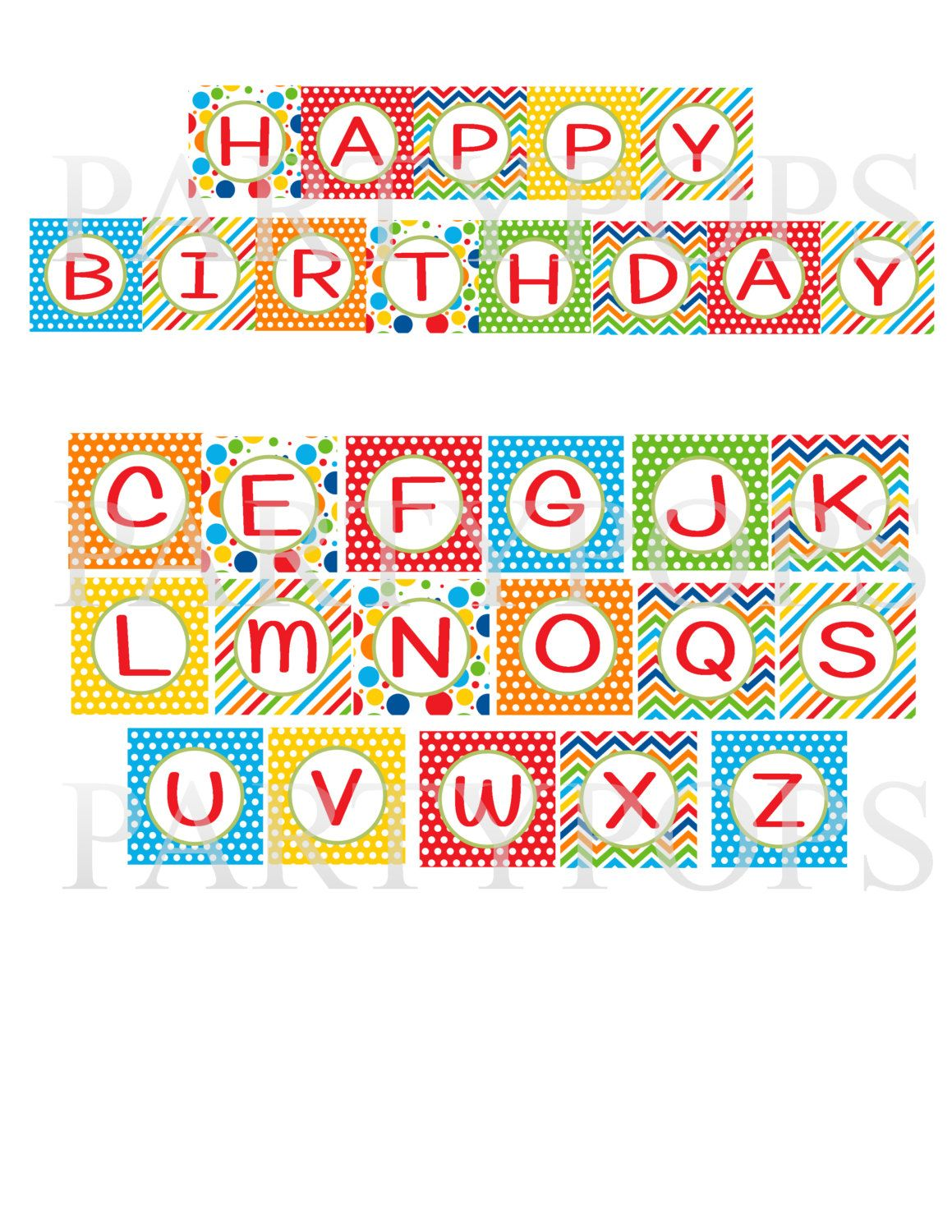 Happy Birthday Printable Banner Letters Free