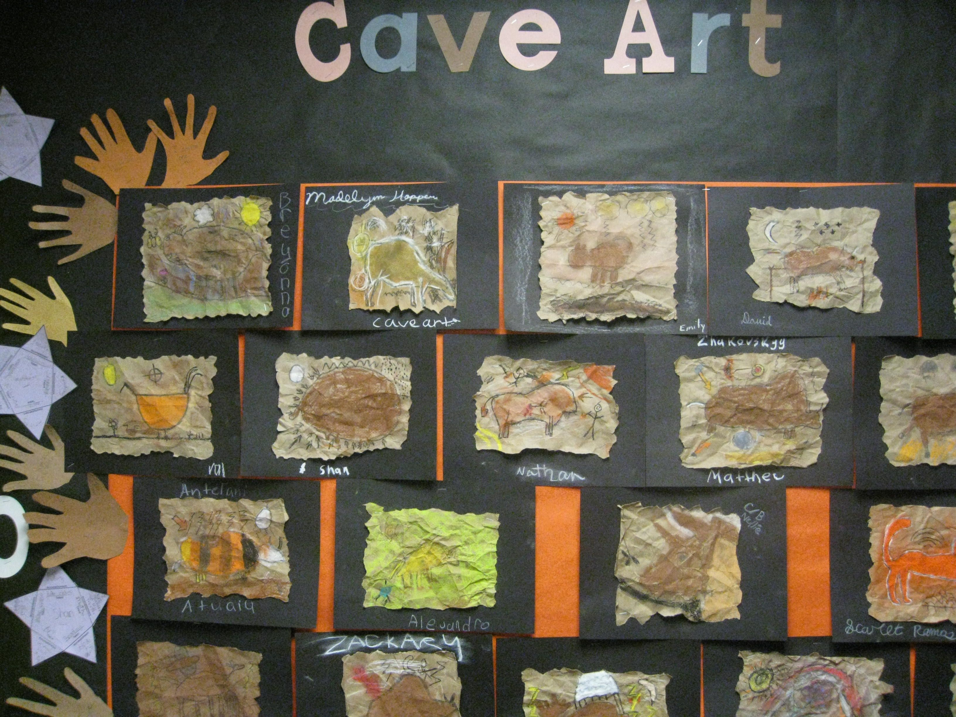 Prehistoric Cave Art Bulletin Board And Project Ideas