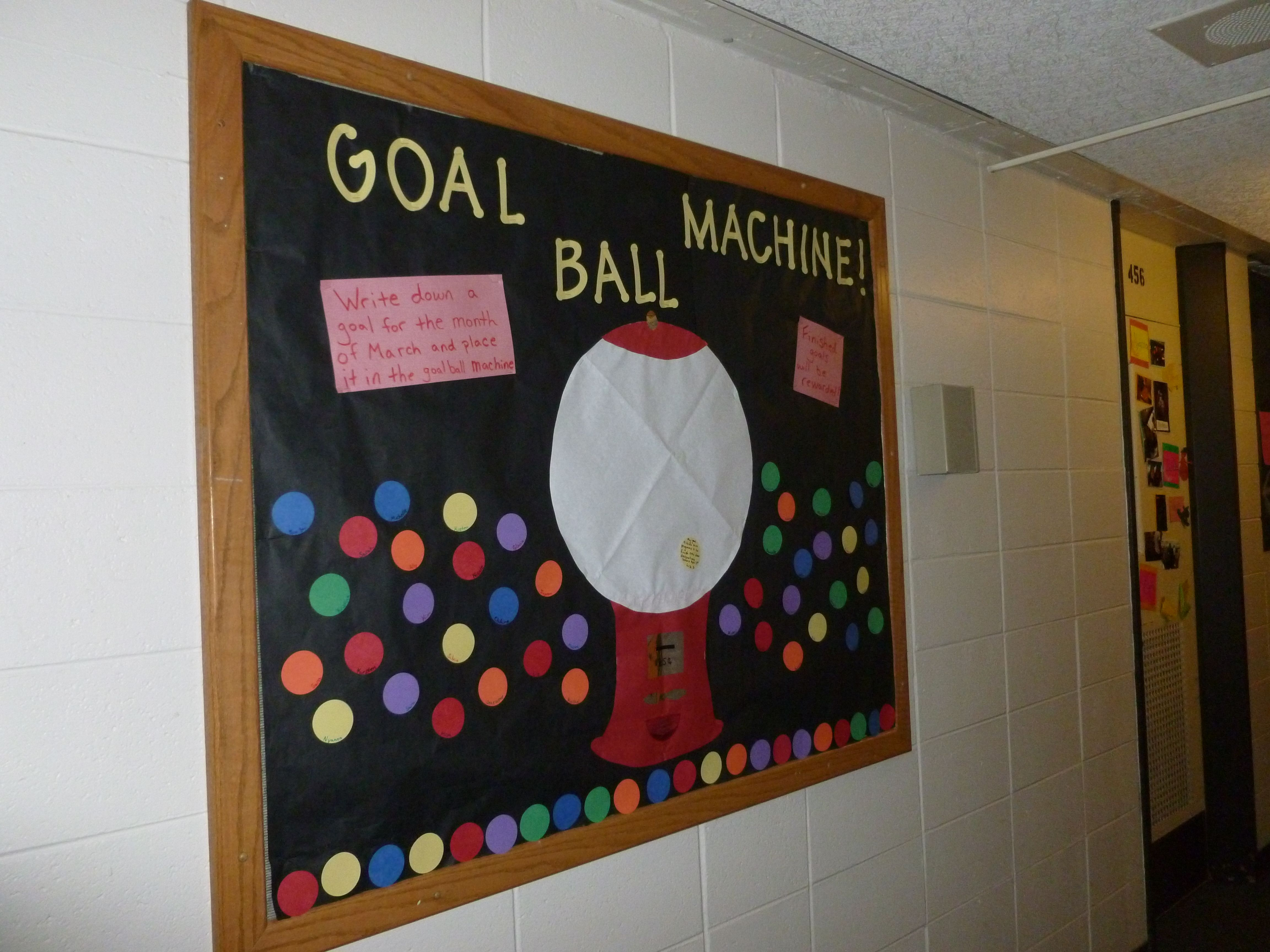 passive bulletin boardcut out colorful circles and have