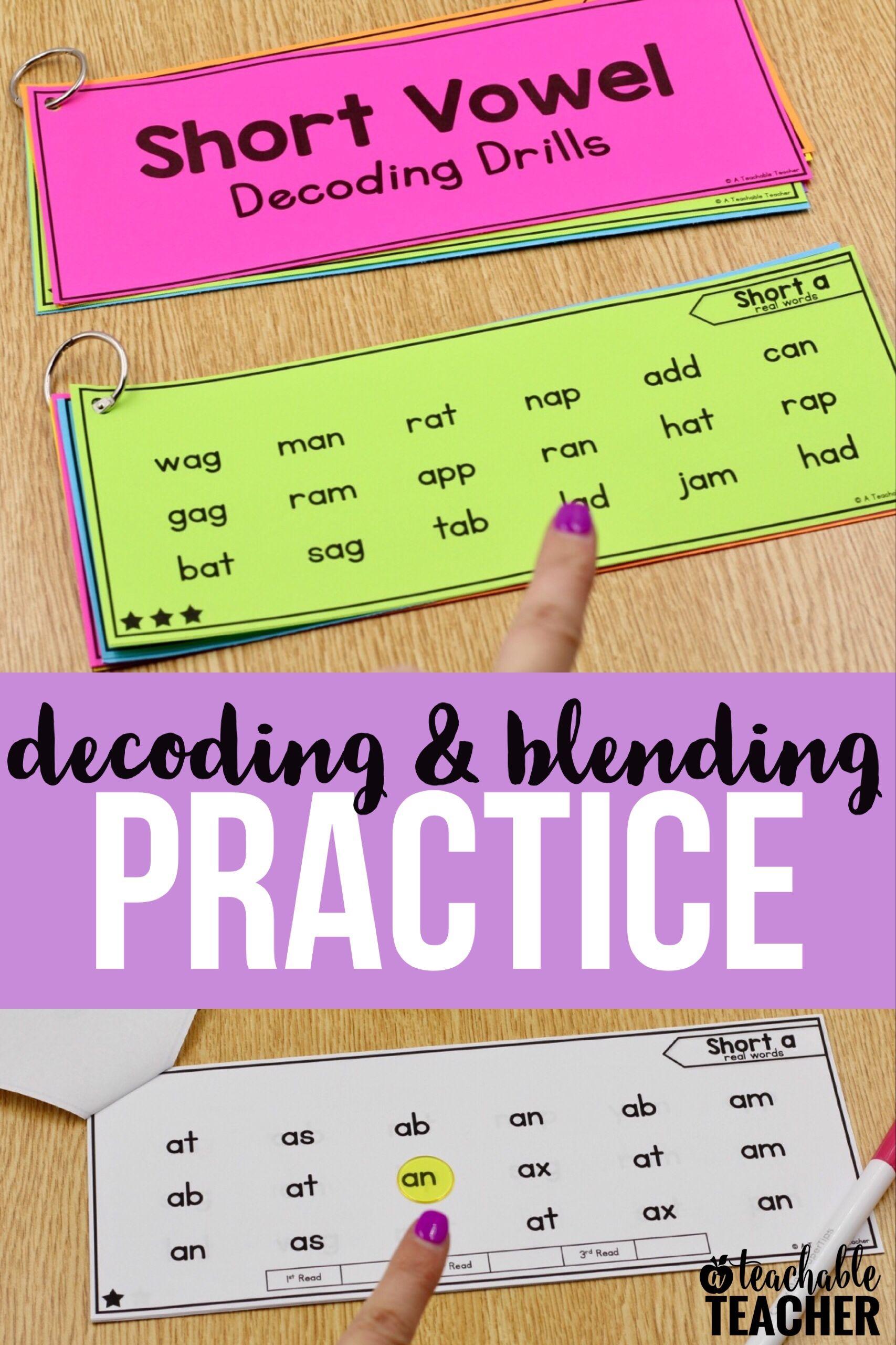 Decoding Drills For Phonics Fluency