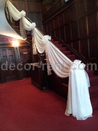 Staircase decor wedding staircase gallery 23 best staircase decoration images on junglespirit Image collections