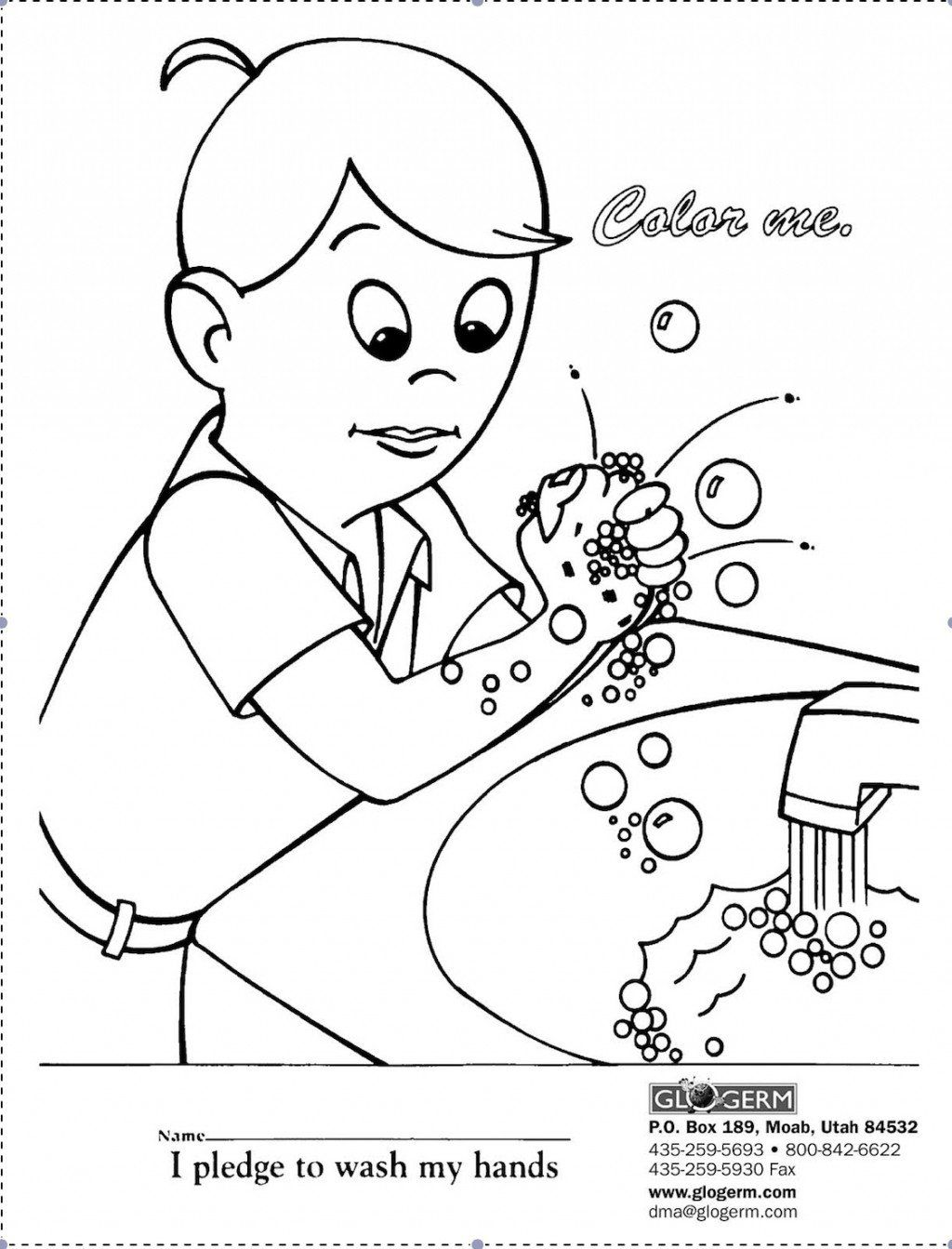 Germ Coloring Page