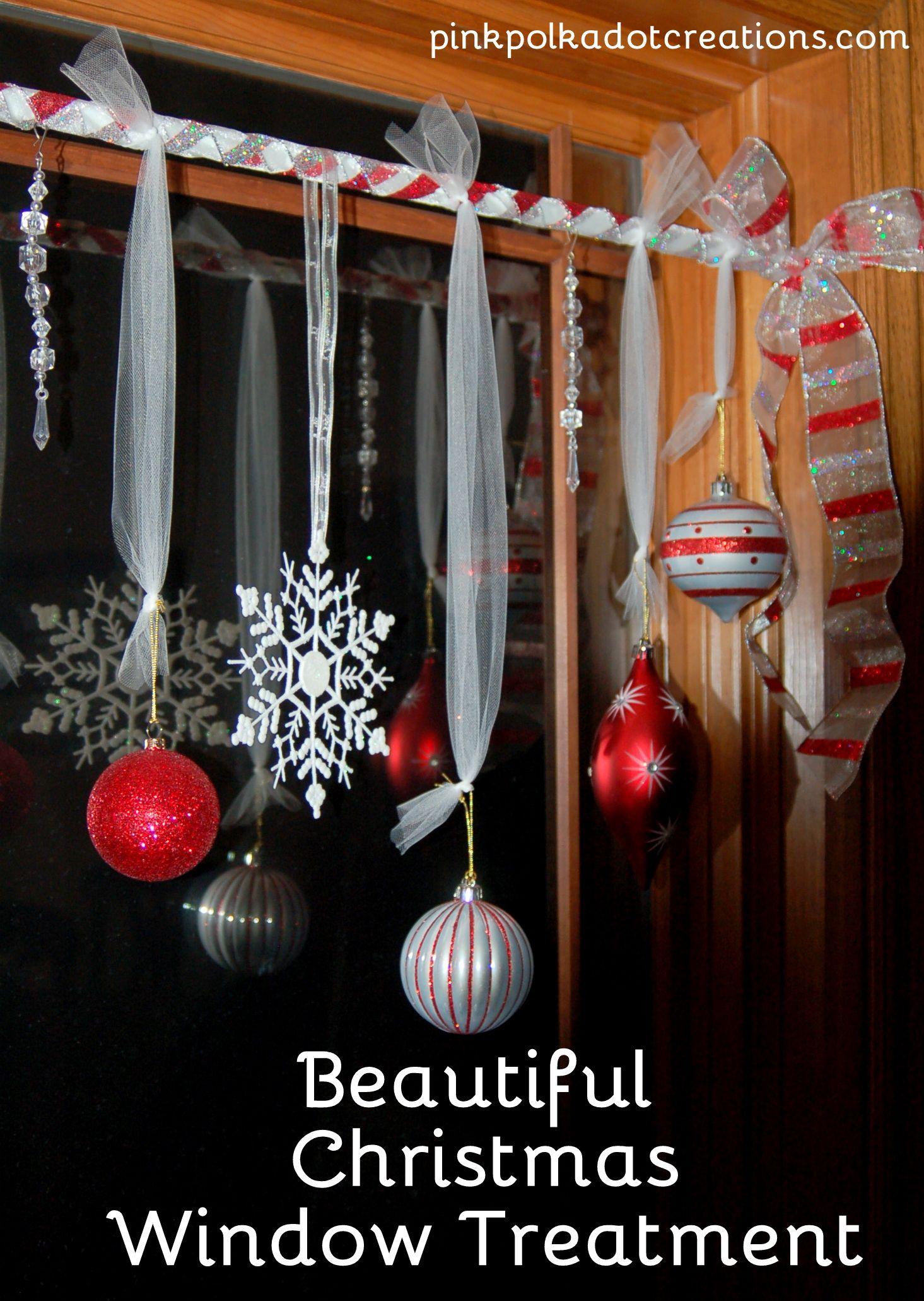 Pink Polka Dot Creations Beautiful Christmas Window