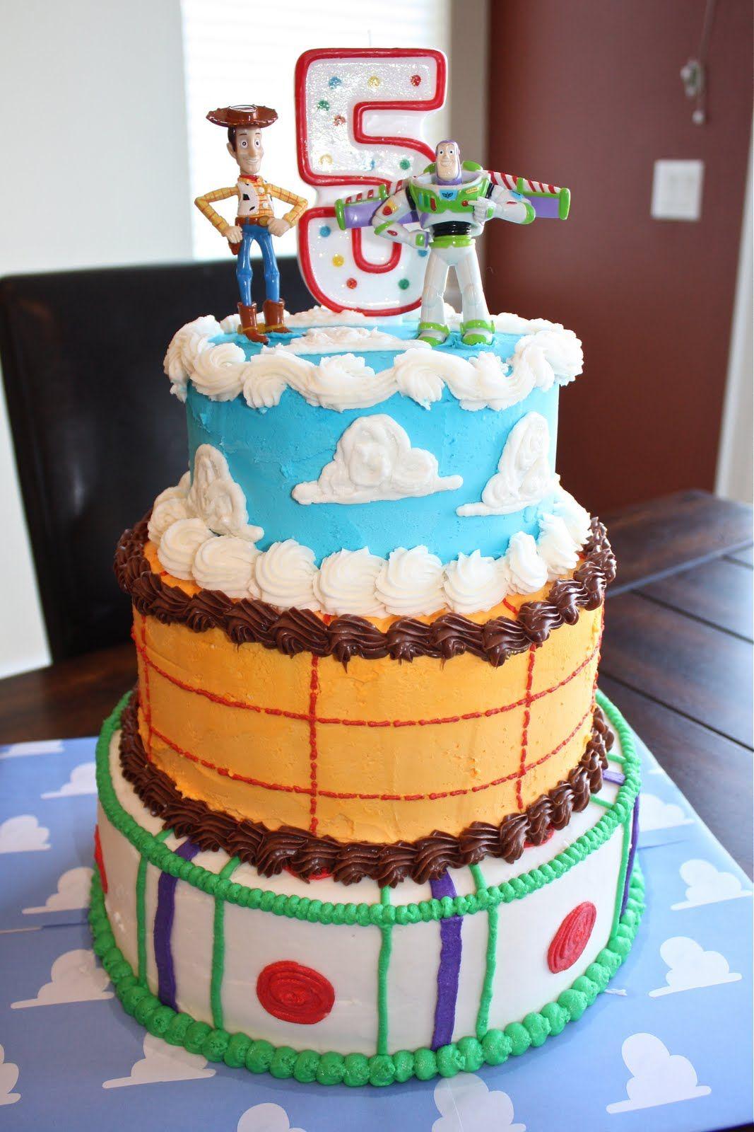 Easy homemade Toy Story cake. www.mythreetinythings