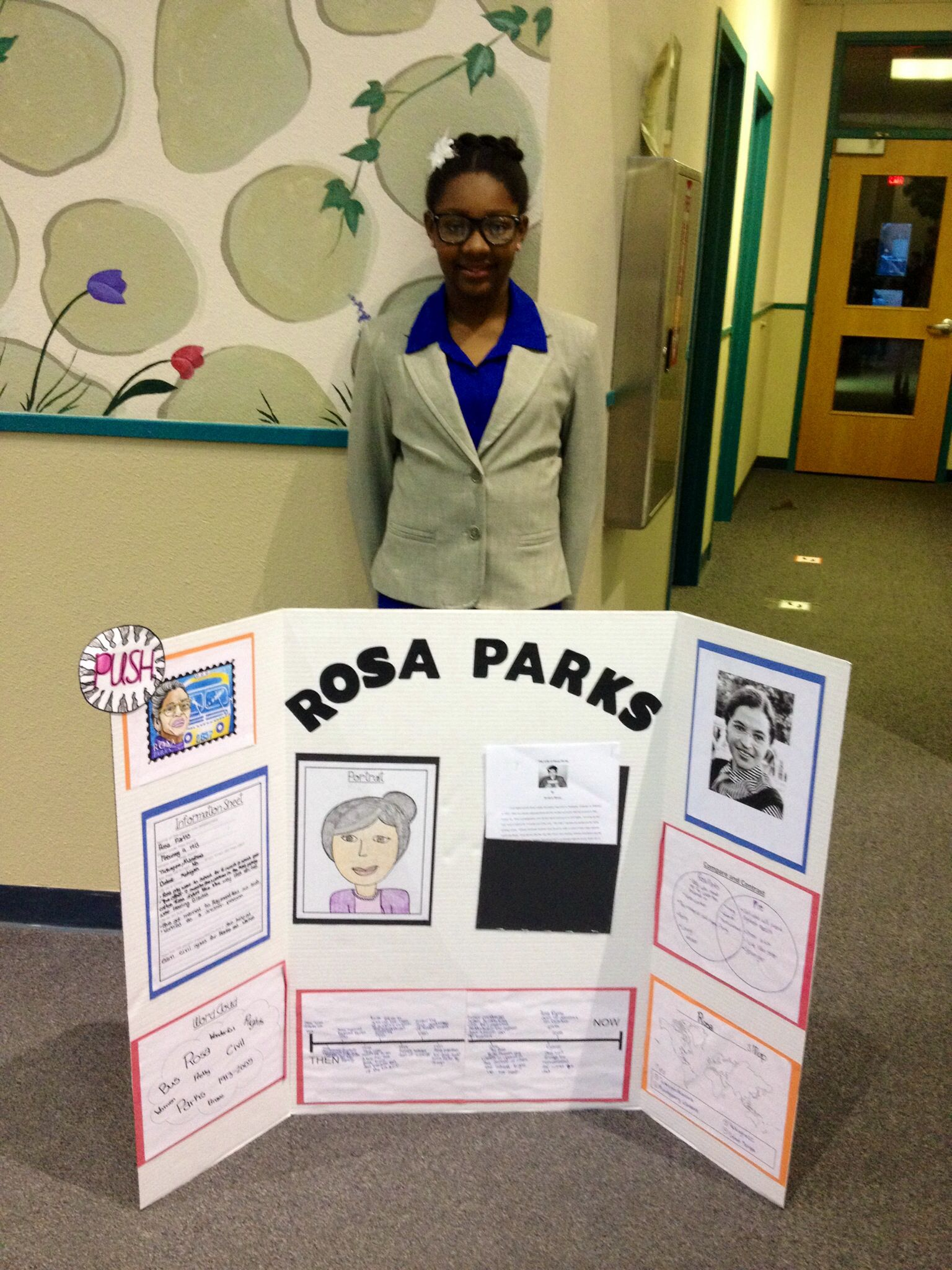My Daughter S Living Wax Museum As Rosa Parks