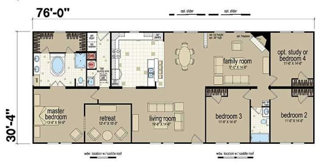 Floor Plans Champion 381l Manufactured And Modular Homes