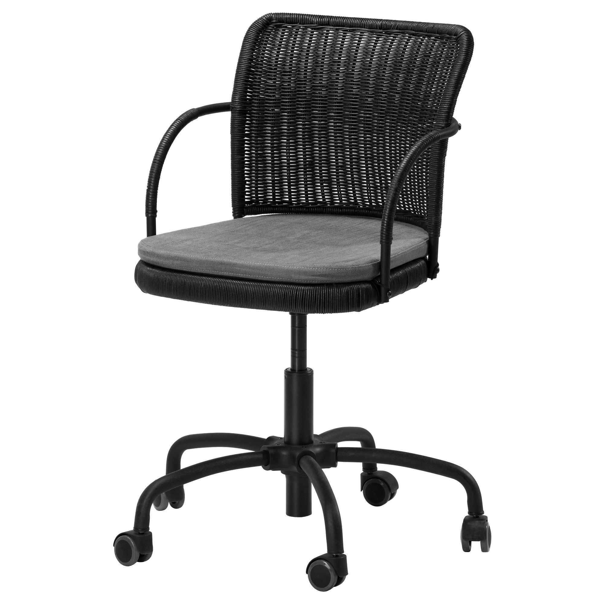 GREGOR Swivel chair black/Svanby gray IKEA 100 nail