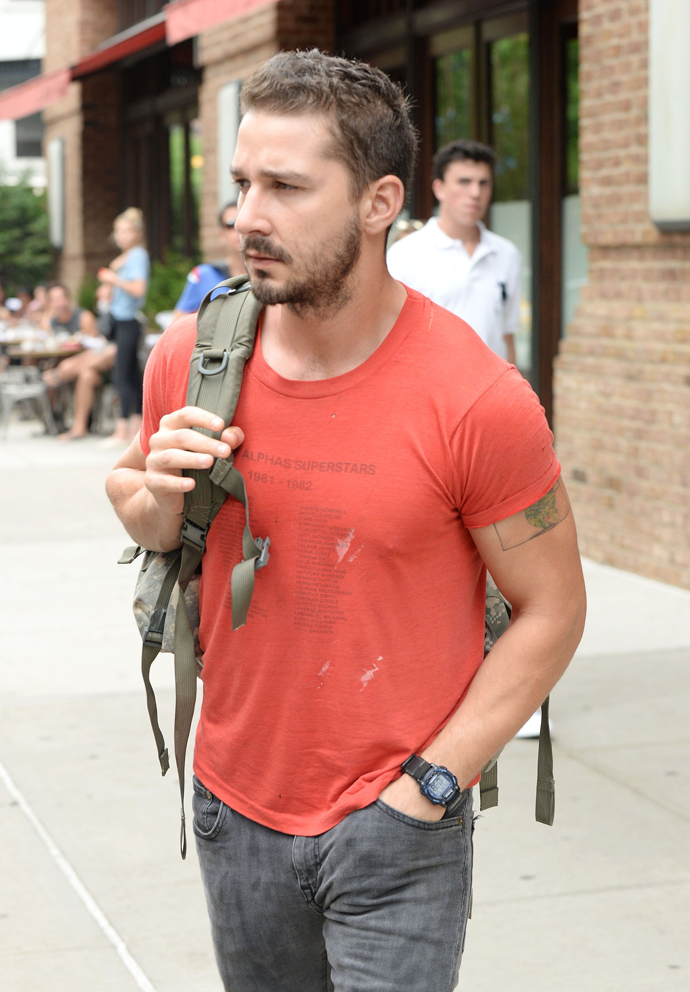 Shia LaBeouf — Leaving his hotel in New York City — July
