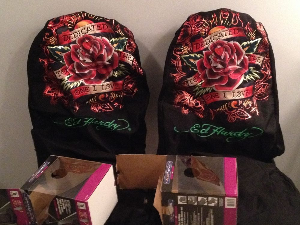 """""""""""ED HARDY UNIVERSAL CAR SEAT COVERS"""""""" Britts car"""