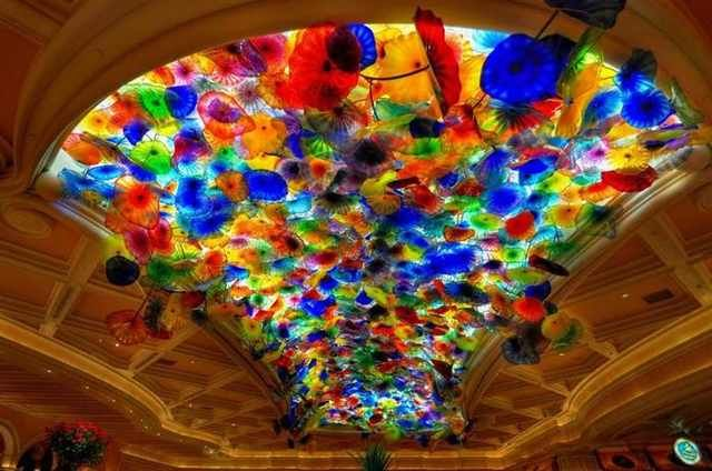 Beautiful Ceilings Glass Ceiling By Chihuly At The Bellagio Hotel In Las Vegas