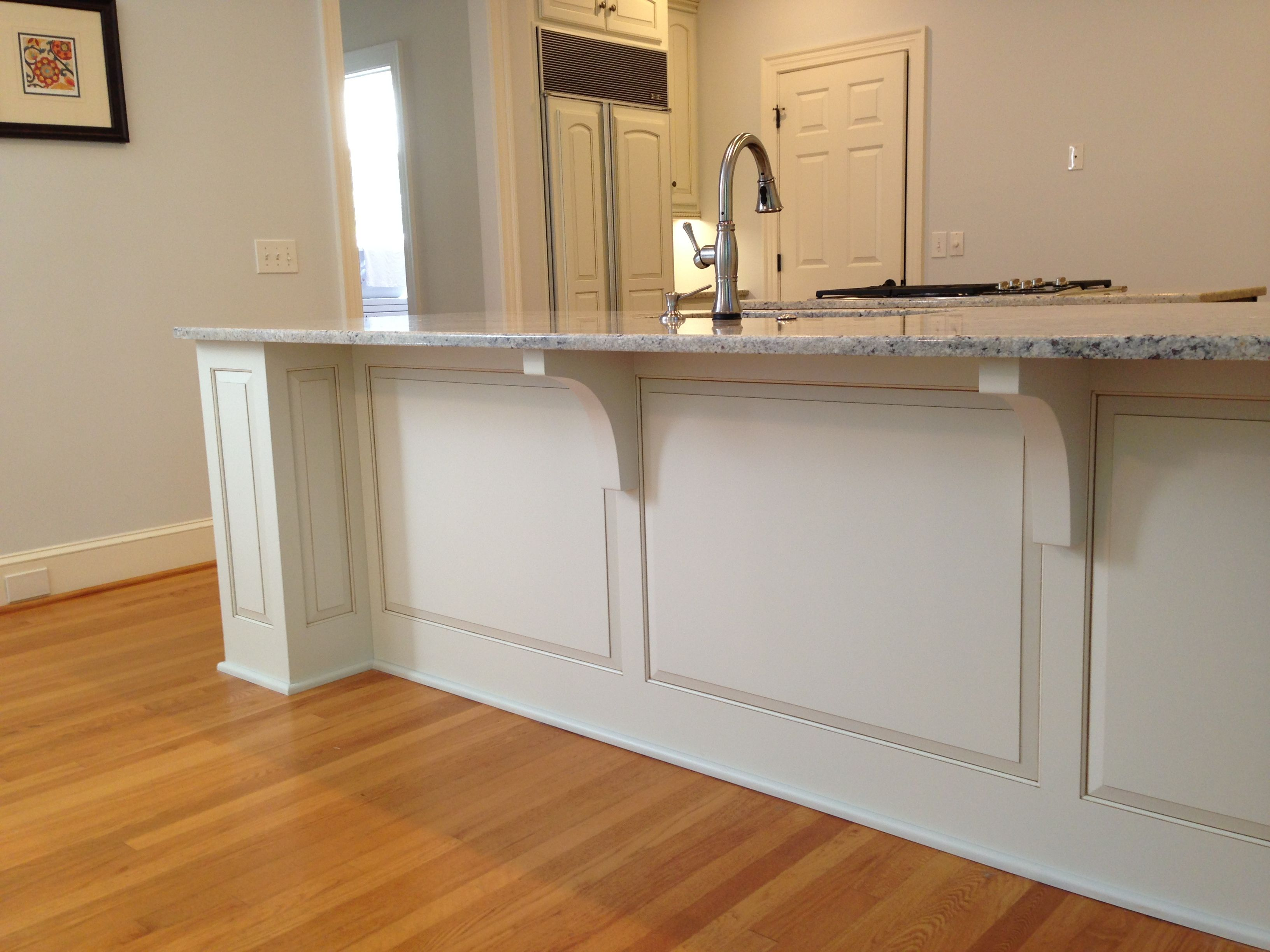Finished Pilasters Amp Lowered Countertop Bar Wainscoting