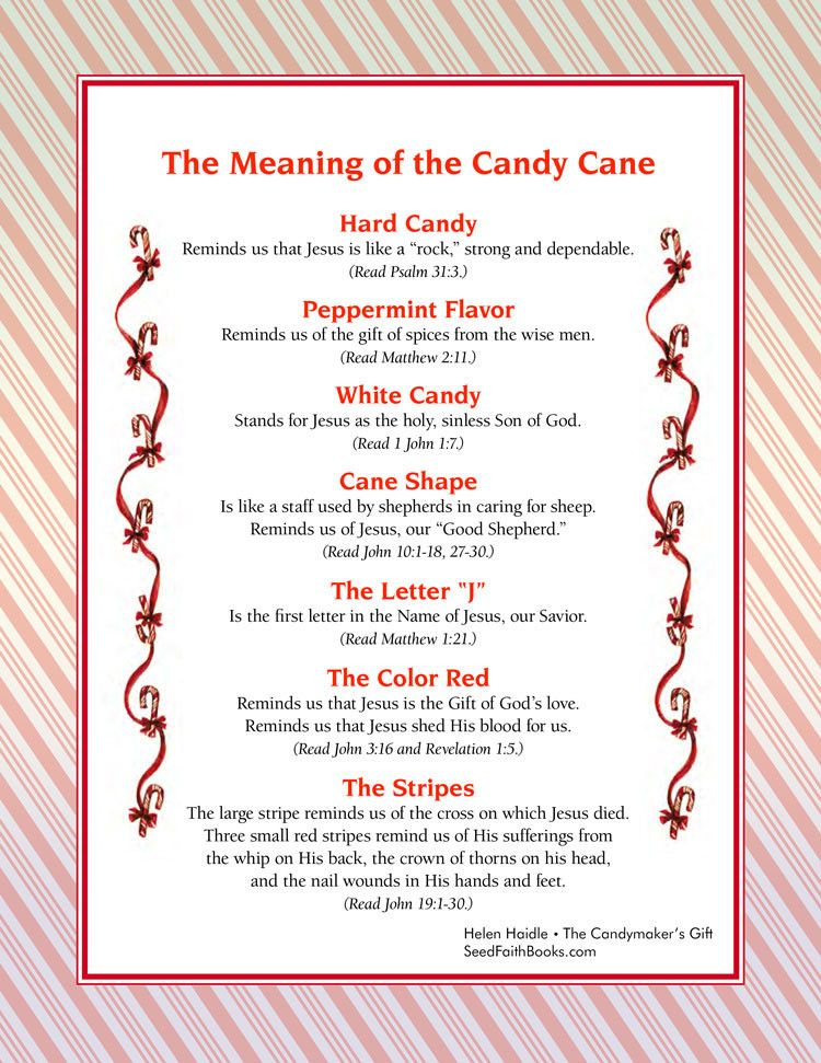 Meaning of the Candy Cane PDF Candy canes, Books and Free