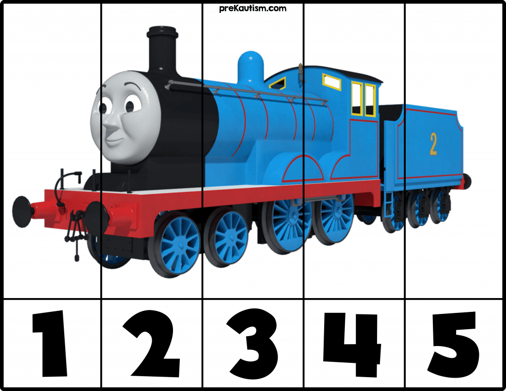 Free Printable Thomas Amp Friends Number Puzzles