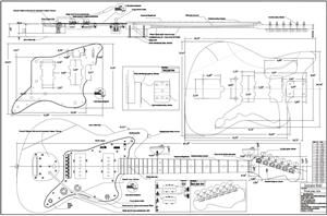 Full Scale Jazzmaster plans DIY $1299 | Instruments | Pinterest | Guitars, Guitar building and