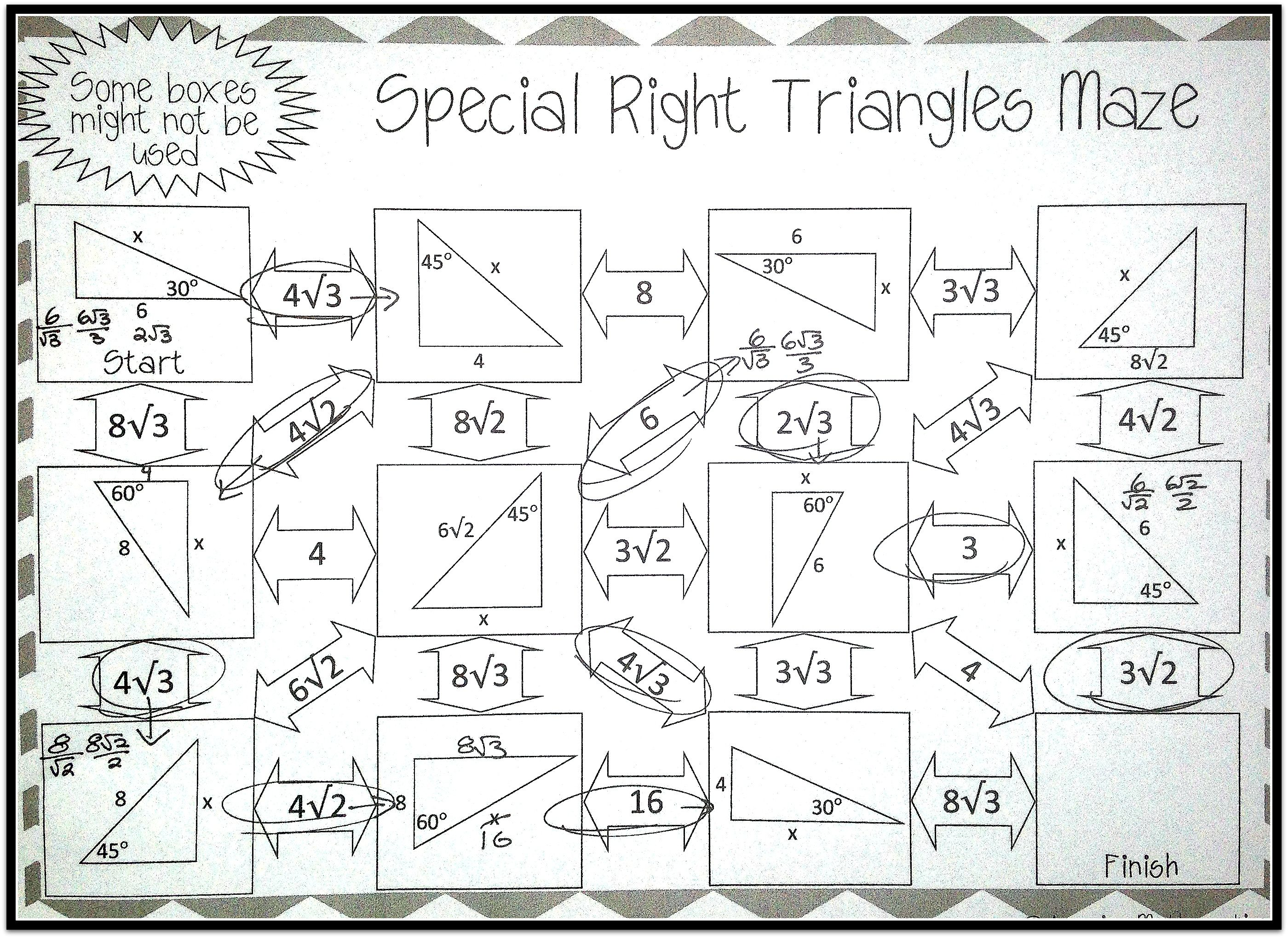 Trigonometry Practice Coloring Activity Gina Wilson