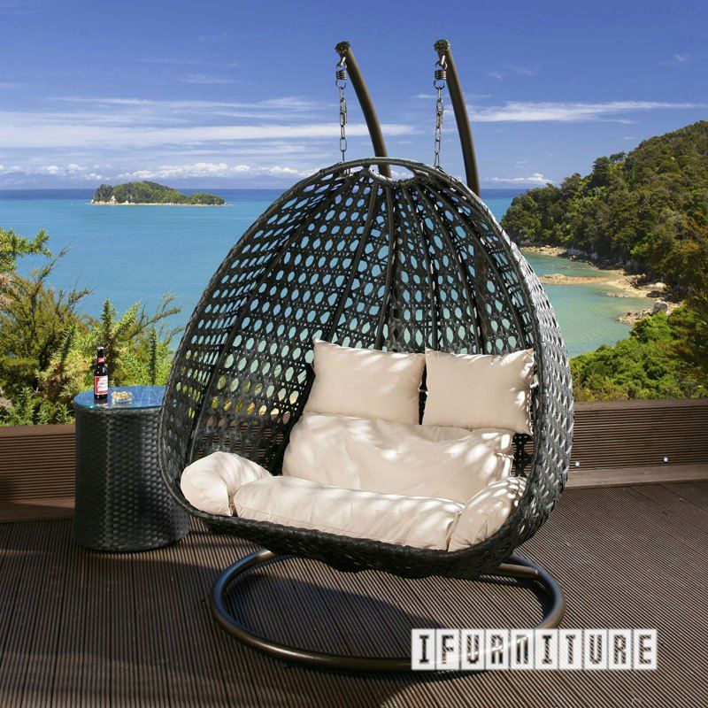 ARCHITECT Double Seat Rattan Hanging Egg Chair , Outdoor