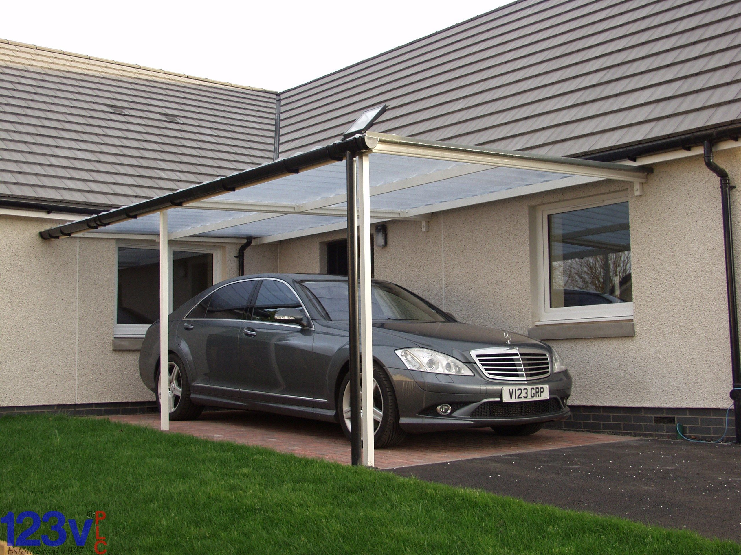 123v Carport Canopy, neat, simple, practical. in & out of