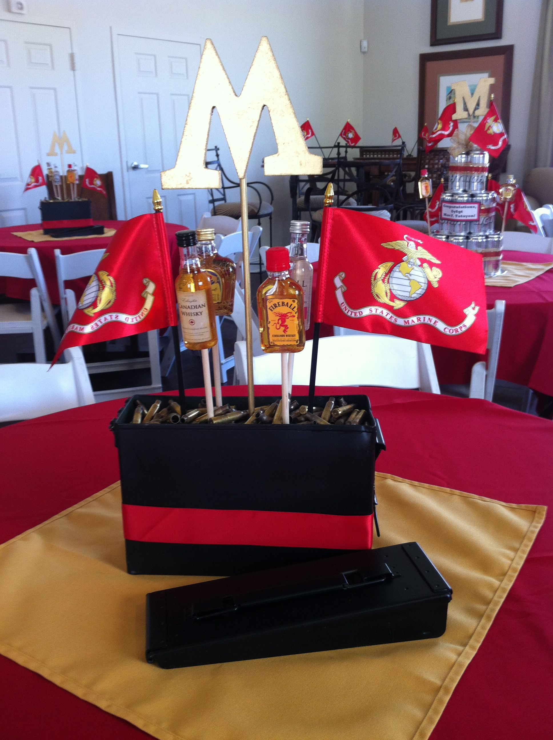 USMC Retirement party but change to air force