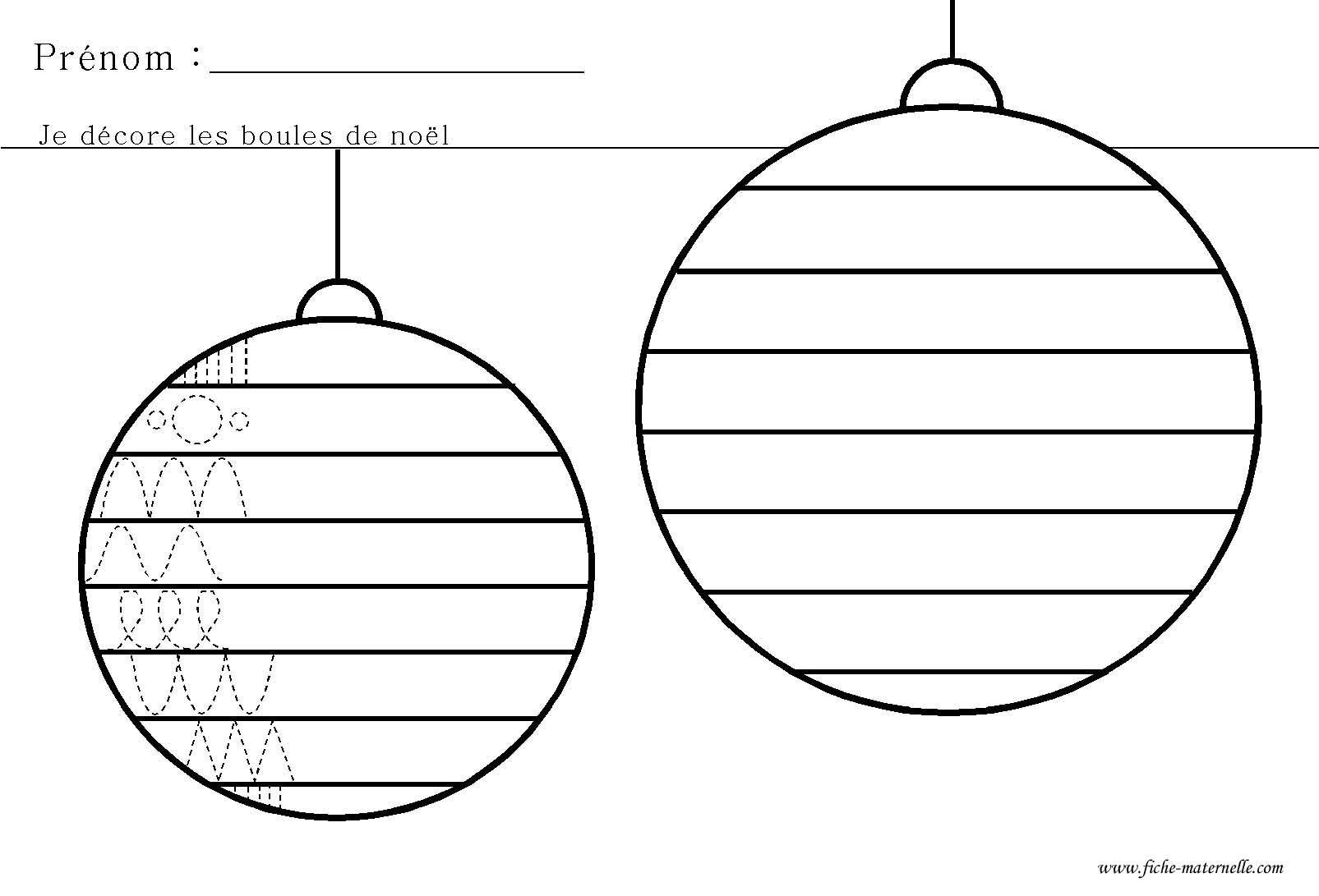 Graphisme De Noel En Maternelle