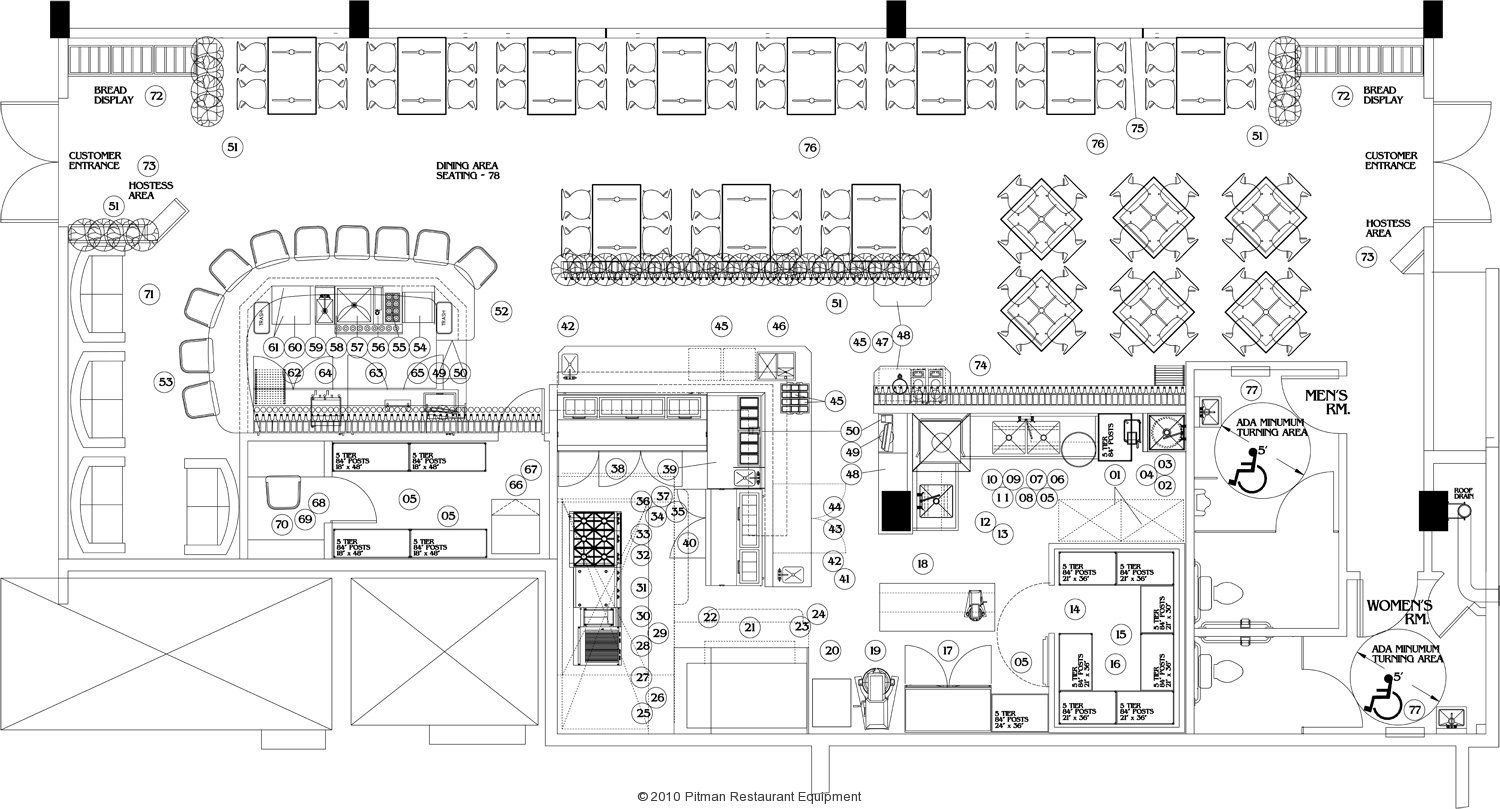 commercial steak house kitchens layout Google Search