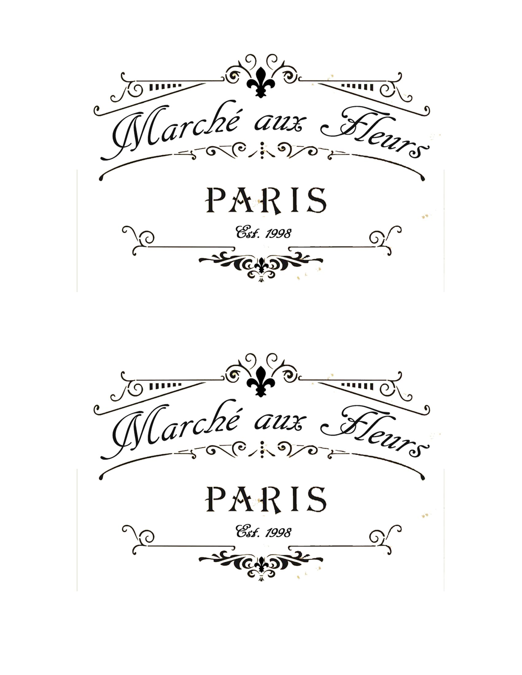 French Flower Market Labels 4 X6