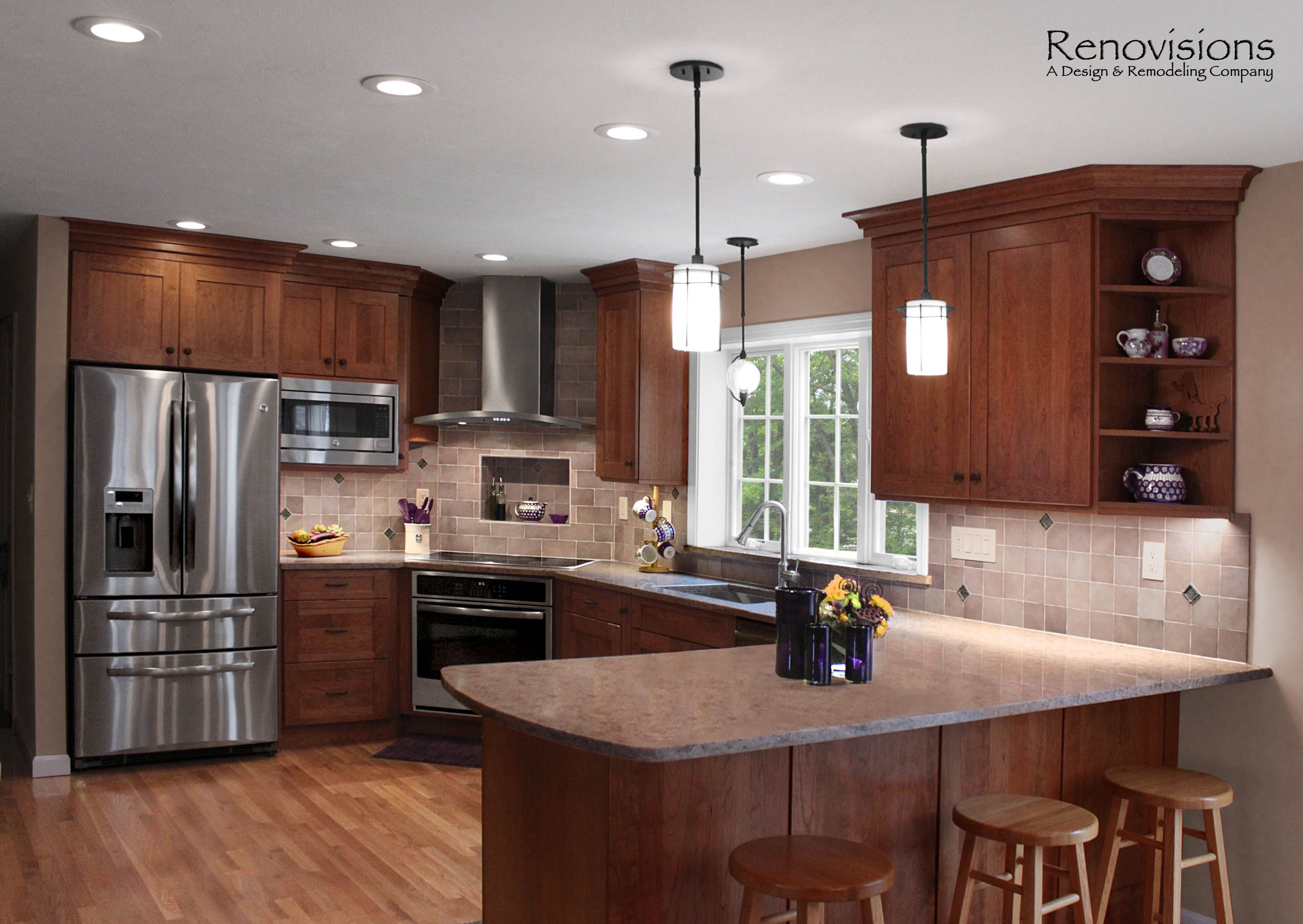 Kitchen remodel by Renovisions. Induction cooktop