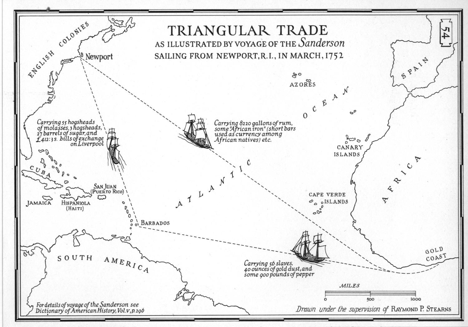 Triangular trade The african slave trade formed one part