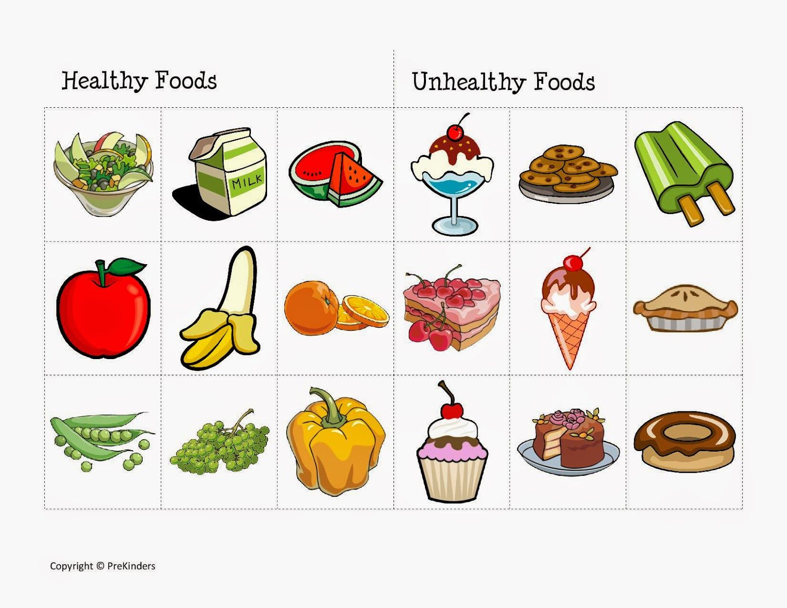 Resultado De Imagen De Healthy And Unhealthy Food