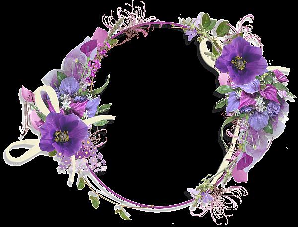 Purple Flower Borders and Frames Gallery Frames Purple