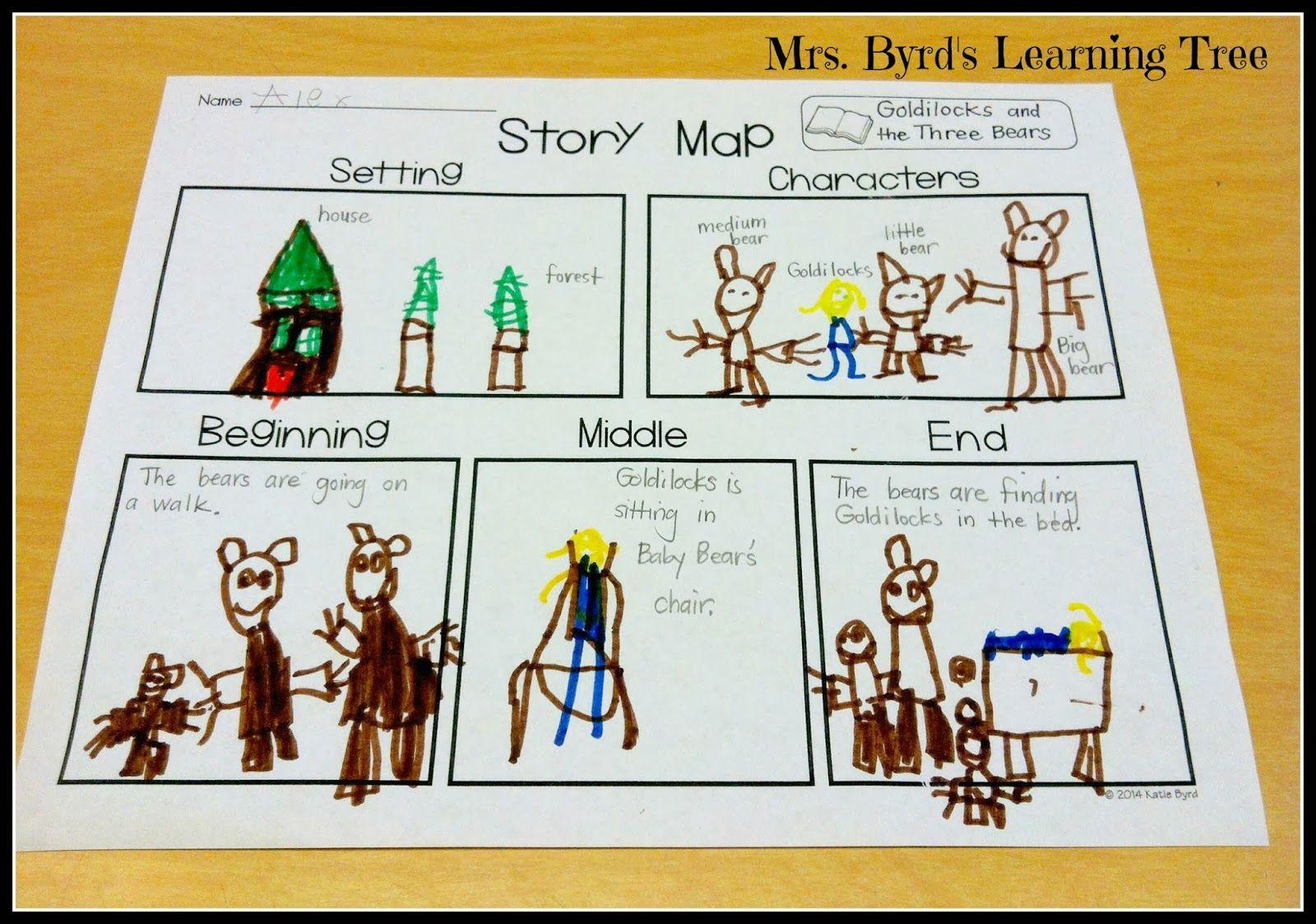 Mrs Byrd S Learning Tree Story Map Freebie Cute Kindergarten Student Story Maps On Goldilocks