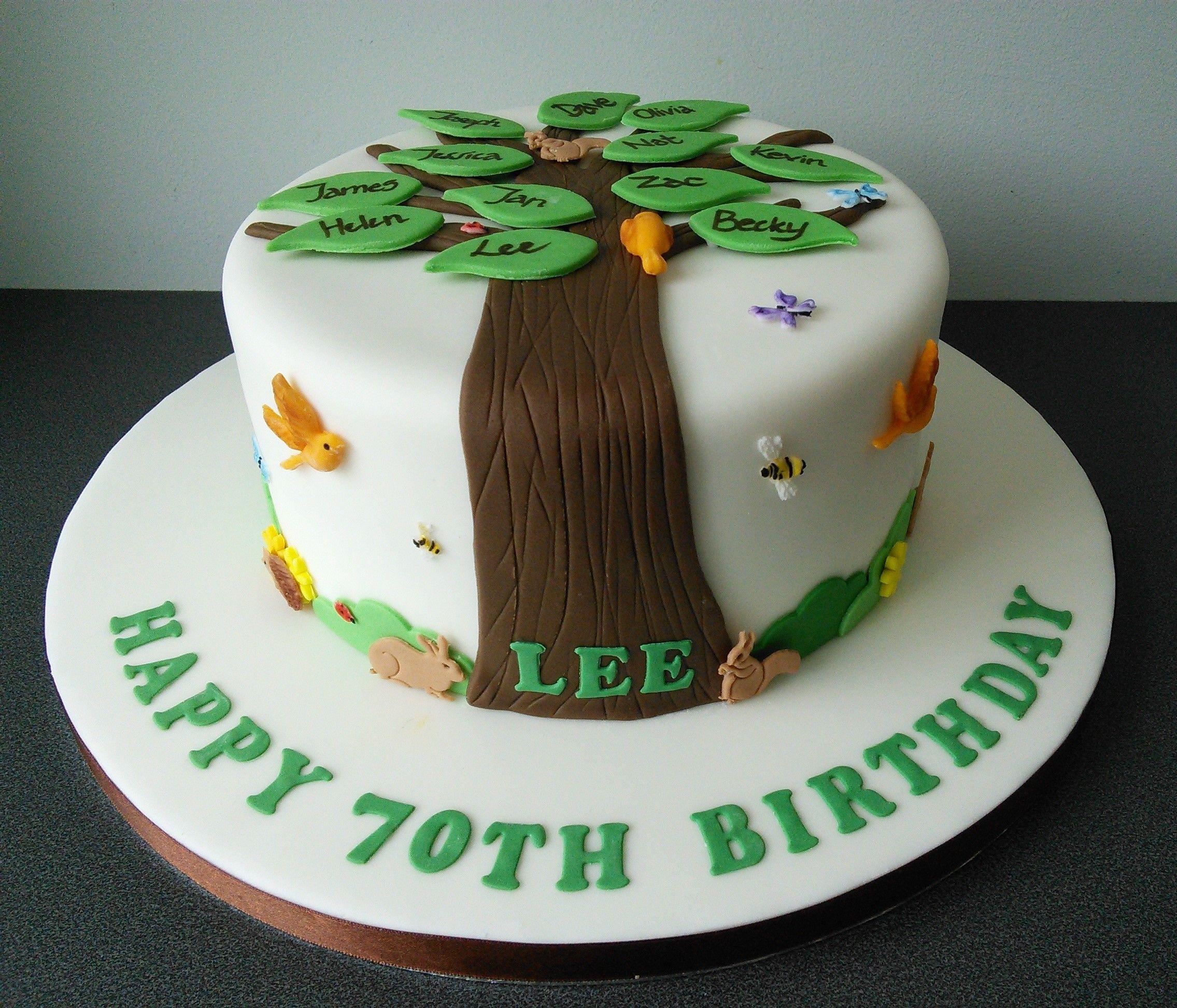 70th Birthday Family Tree Cake