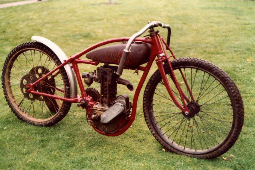 Some of the bikes used on the early dirt tracks bicycles